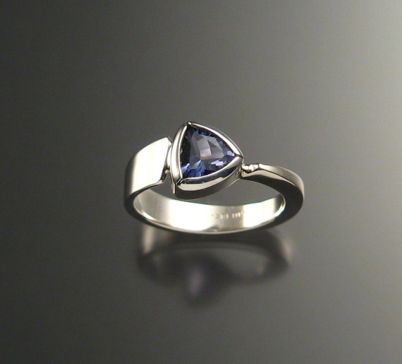 Iolite triangle ring, Sterling, any size