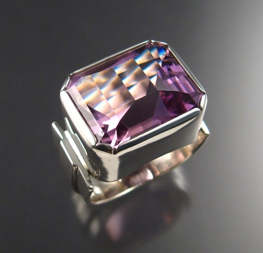 Amethyst Men S Ring Extra Large Sterling