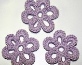 Crochet Flower Lilac- RESERVED for SheriAngellCreations