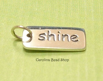 Shine -Sterling Silver Word Tag - C764