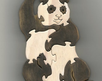 Wooden Standup Puzzle - Panda