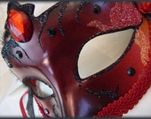 Lucifer's Inferno OOAK Hand Painted Masquerade Ball Mask