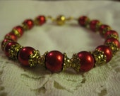 The Red Queen (Vintage Glass Bracelet)