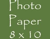 Photo Paper 8 x 10