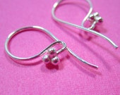 Sterling Silver, Triple Ball Clustered Earwires, 3 pairs