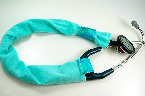 light blue stethoscope cover handmade