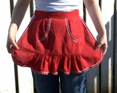RESERVED for MissChocolatKookie - Red Vintage Apron