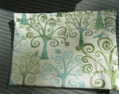 reusable snack storage bag, extra large trees