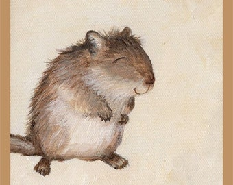 Cute Gerbil Art Print