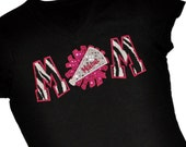 Custom CHEER Mom Sequin Applique Shirt...Personalize To Make it Your Own