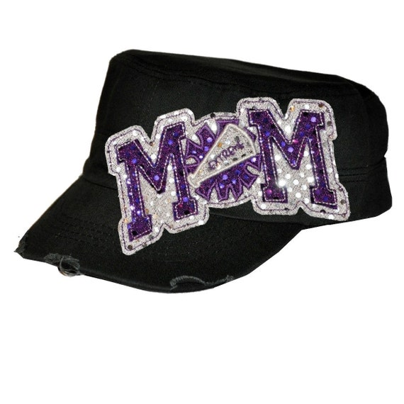 Sequin Cadet Cap - Cheer MOM
