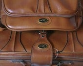 Vintage Brown Luggage Set - suitcase and carry on