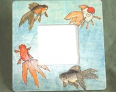 20% OFF Goldfish Painted and Pyrographed Wood Photo Frame