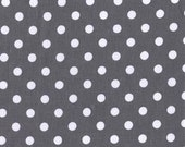 1 yard Charcoal Dumb Dot by Michael Miller