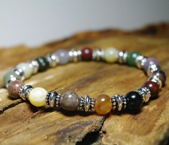Sale - Karma Balance Multi-Gemstone Beaded Stretch Bracelet