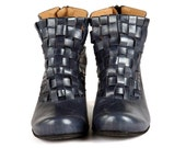 Woven Bootie - metallic blue - NOW ON SALE