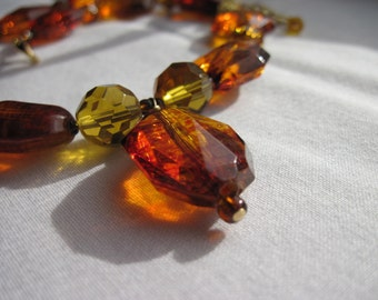 Faux amber nugget necklace.