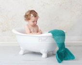 PDF Crochet Pattern - Crochet Mermaid Tail Prop (Newborn, 3m, 6m, 12m)