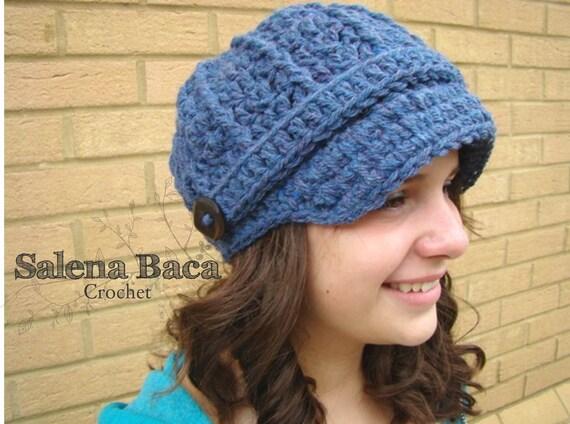 PDF Crochet Pattern - Chunky Newsboy Hat Cap Boy Girl Men Women Teen Easy (Child, Teen, Adult)