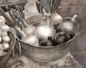 Farmer's Market Onions -  Signed Giclee Fine Art Print Medium