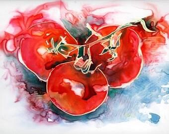 Tomato Juice - Original Watercolor on Yupo