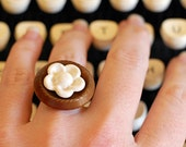 Daisy Daisy- Vintage Button Ring