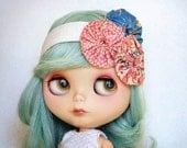 Vintage Yoyo Headband for Blythe