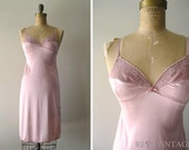 vintage  BALLET BLUSH pink lace nightie