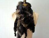 vintage 1940s stole : BROWN FOX fur stole