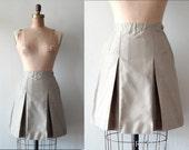 vintage KHAKi SCHOOLGiRL pleated mini skirt