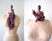 vintage RUSSET EGGPLANT striped scarf