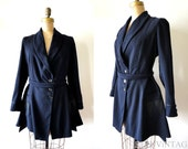 vintage edwardian coat : 1900s 1910s NAVY suit coat by Redfern