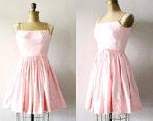 vintage 1950s dress : cotton candy pink 50s sundress by Lanz