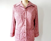 vintage 1960s jacket : SPECKLED CRANBERRY coat