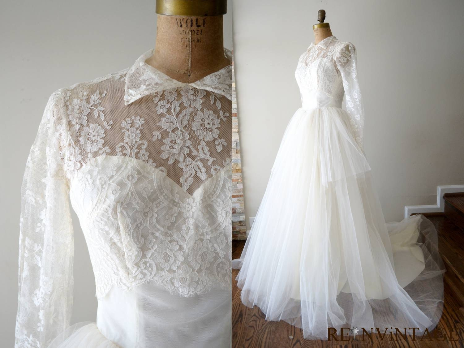 Artsancrafts fave etsy finds vintage wedding dresses for Wedding dress on etsy