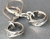Sterling Silver Hoop Earrings, Small Rustic Handcrafted Artisan Rings - Go To Dangles