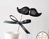 Mustache on a Stick - The Debonair - CHOOSE A COLOR
