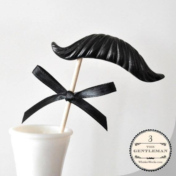 Mustache on a Stick - The Gentleman - CHOOSE A COLOR