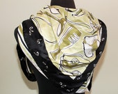 reserve  for B- ON SALE VINTAGE - MONDI silk green and navy blue scarf