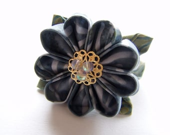 Lake Mists Kanzashi Ponytail Barrette