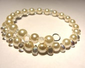 Pearl Shimmer Bracelet - Crystals and Pearls
