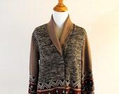 vintage knit tribal wrap sweater