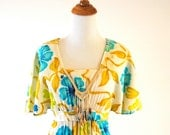 vintage dreaming of the tropics maxi dress with seashells