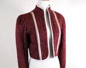 vintage harvest gunne sax floral bolero jacket