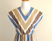 vintage chevron stripe dress
