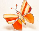 Orange Baroque Swirl Flutterby Butterfly