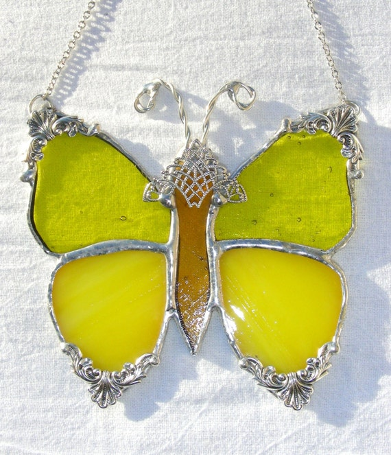Yellow Victorian Butterfly