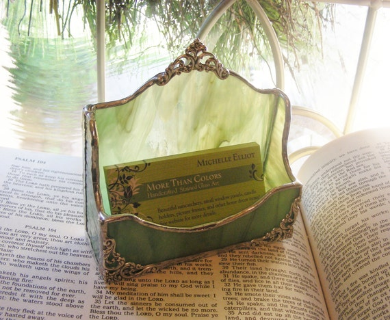 NEW Sage Business Card Holder (Choose from  7 Color choices)