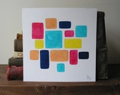 A Collection no.9  - Mixed Media Painting on Heavy Art Paper