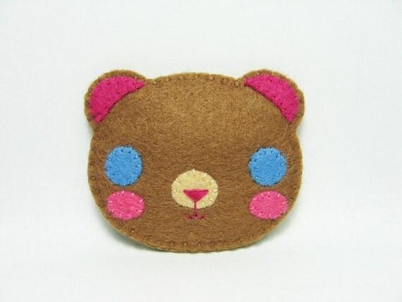 SALE Mr. Teddy felt pin